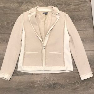 Vince Cream Colored Jacket Size Small